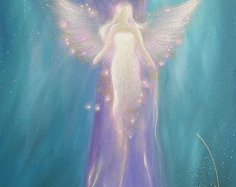 """Limited angel art photo """"its in yourself"""" , modern angel painting, artwork, picture frame, gift,"""