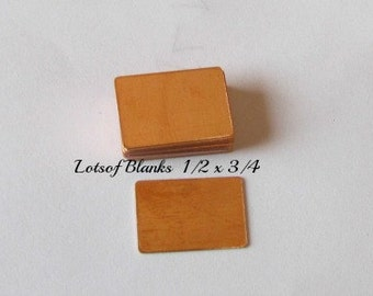1/2 x 3/4   - Copper -Stamping Supplies - enamel blanks - pendant blanks - hand stamping blanks - metal blanks - rectangle copper