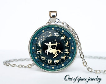 Sagittarius Necklace, Sagittarius Pendant Sagittarius jewelry Zodiac Sign Pendant, Constellation Jewelry Art gift for men for women
