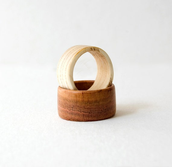 Wood Ring Wooden Rings Set Wedding Bands Wedding Ring Pair