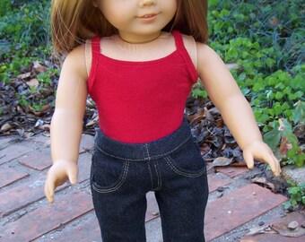Dark Wash Denim Jeans for 18 inch dolls - Boot Cut