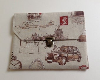London Ipad Case, Padded Tablet Cover,  London Pouch