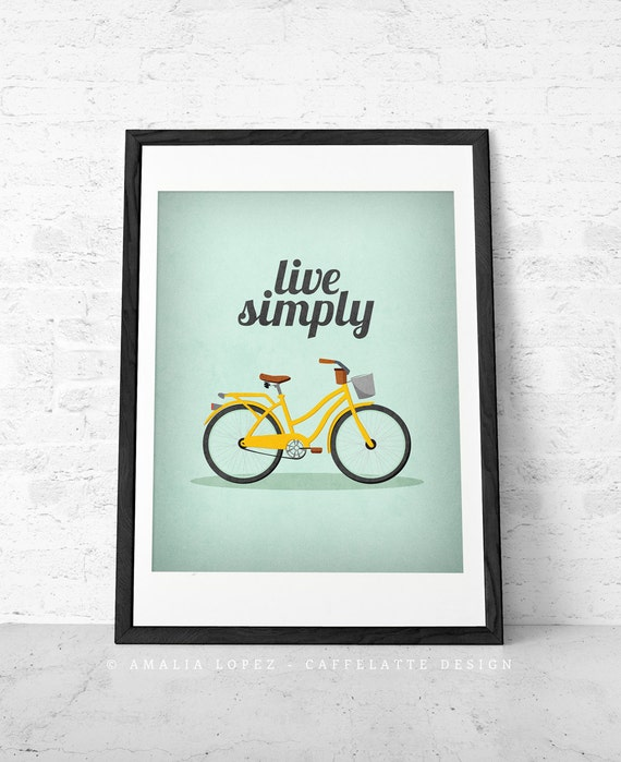 Live simply print live simply wall art inspirational quote for Live simply wall art