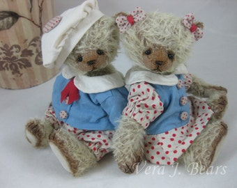 "SOLD  5.5""  Artist Bears Mohair Edward or Emily Handmade by Vera J. Bears"