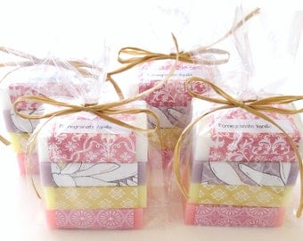 Lady's Gift Sets of Scented Soap, Set of 4, Teacher's Gift, Stocking Stuffer, Bridesmaid Gifts, Hostess Gift, Gift for Her