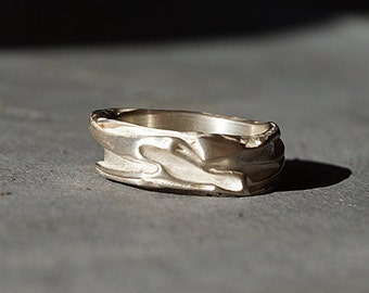 Silver RingbSterling ring for friends engagement ring solid individual genuine jewelry designerpiece goldsmithwork handmade comfortable