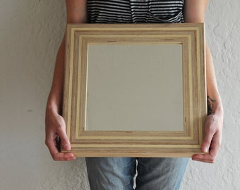 Handmade Plywood Framed Accent Mirror