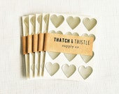 48 Metallic Silver Mini Heart Stickers - 3/4 Inch Envelope Seals Small Wedding Gift Wrapping Party Invitation Embellish Packaging