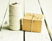 Baker's Twine in Gold Shimmer - 10 Yards - Metallic Bakers Packaging Gift Wrapping String Cord Trim Ribbon Pretty Vintage White Party Decor