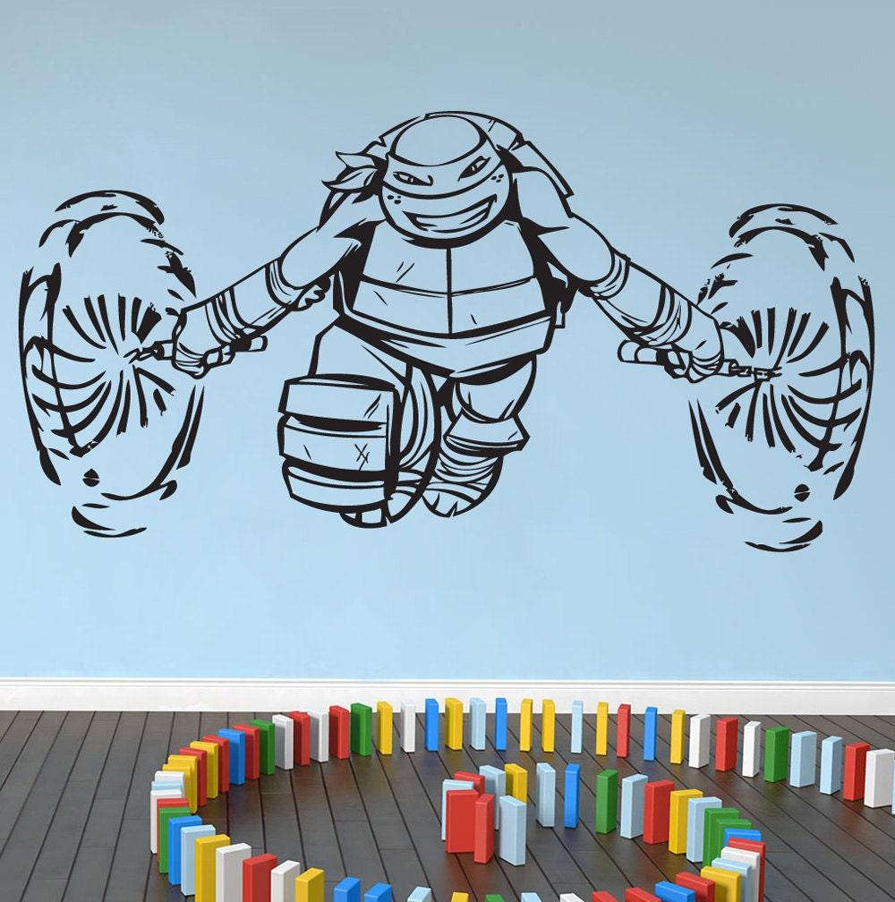 Ninja Turtles Vinyl Wall Art Sticker Michelangelo By Nsvinyls