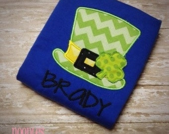 Leprechaun Hat St. Patricks Day Applique Shirt