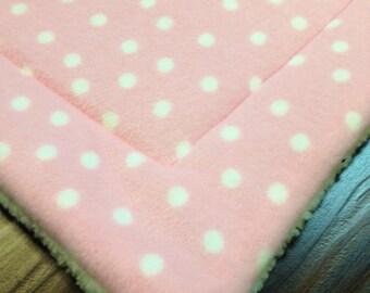 PINK FLEECE Crate mat Pet Mat Dog Cat Bed Pad PROFITS Benefit Animal Rescue Group