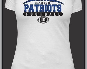 Womens football shirt, custom mom tshirt, personalized football top, football aunt, high school football lover