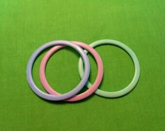 Vintage Pastel Bangle Bracelets (Item 1247)