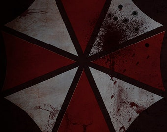 Resident Evil Inspired Umbrella Corporation (After Apocalypse) Video Game Art Poster Print