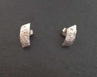 Fancy very pretty handcrafted studs 925 sterling silver
