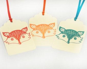 Fox tag set 15 Handmade Blank boy baby shower birthday party woodland
