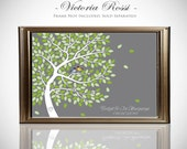Guest Book Alternative // Guest Book Tree // Fits 100-250 Signatures // 20x30 Inches on Canvas or Print // FREE SHIPPING