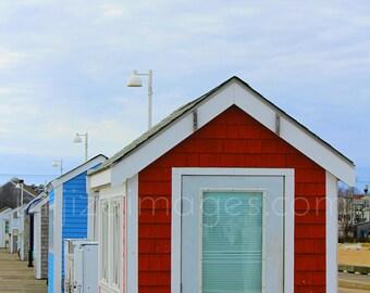 Colorful Shacks MacMillan Pier Provincetown Cape Cod