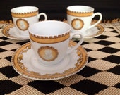 Demi Tasse Cups French Imperial Inspired