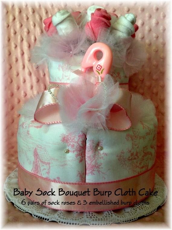how to make a burp cloth cake