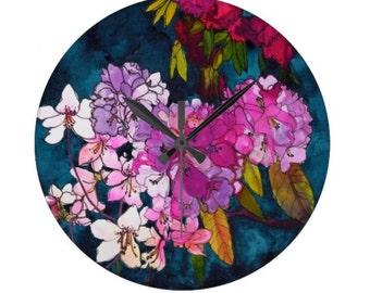 Puple Globes // Circular Wall Clock