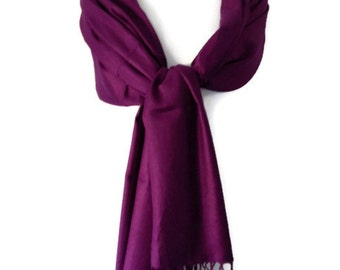 Purple Pashmina Wrap Shawl , bridesmaids wrap ,Ladies Large Scarf, Fair Trade Scarf