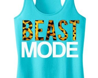 Tank Crossfit Clothing Women Beast Mode Shirts Tshirt