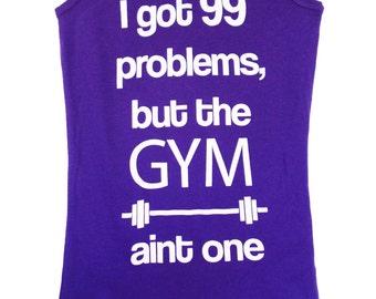99 Problems - Purple Workout Tank