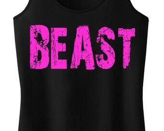 BEAST Tank Top Workout Racerback, Gym Tank Top, Fitness, Workout Clothes, Gym, Beast, Workout Shirt, Running