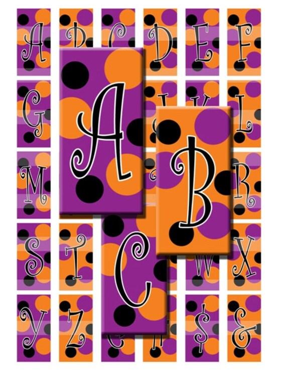 Halloween Alphabet Letter R Cat Witch Ryta: Halloween Alphabet Circus Letters Initials Monogram Digital