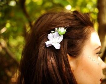 Philothei Pale Lilac Floral Fascinator Comb