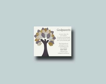 Godparents gift - Personalized gift for Godmother and Godfather - Gift from Godchild - Godparents Baptism Keepsake
