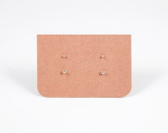 Tiny Dot Stud Earrings 1.5mm & 2mm - Sterling Silver Dot Studs - Set of Two - Simple Minimalist Everyday Jewelry LITTIONARY