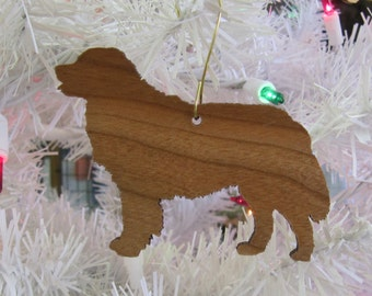 Bernese Mountain Dog Ornament in Wood or Mirror Acrylic Customizable with Name