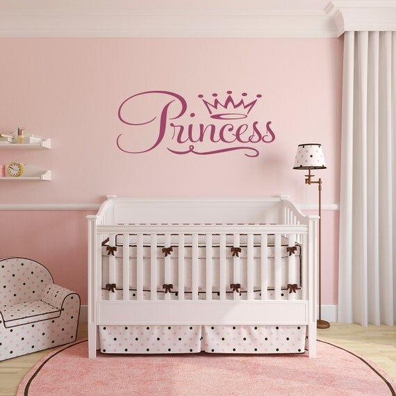 Princess Bedroom Wall Decor : Princess wall decor teen room nursery