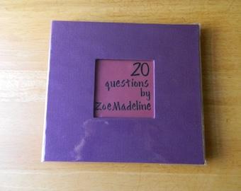 20 Question Birthday Book