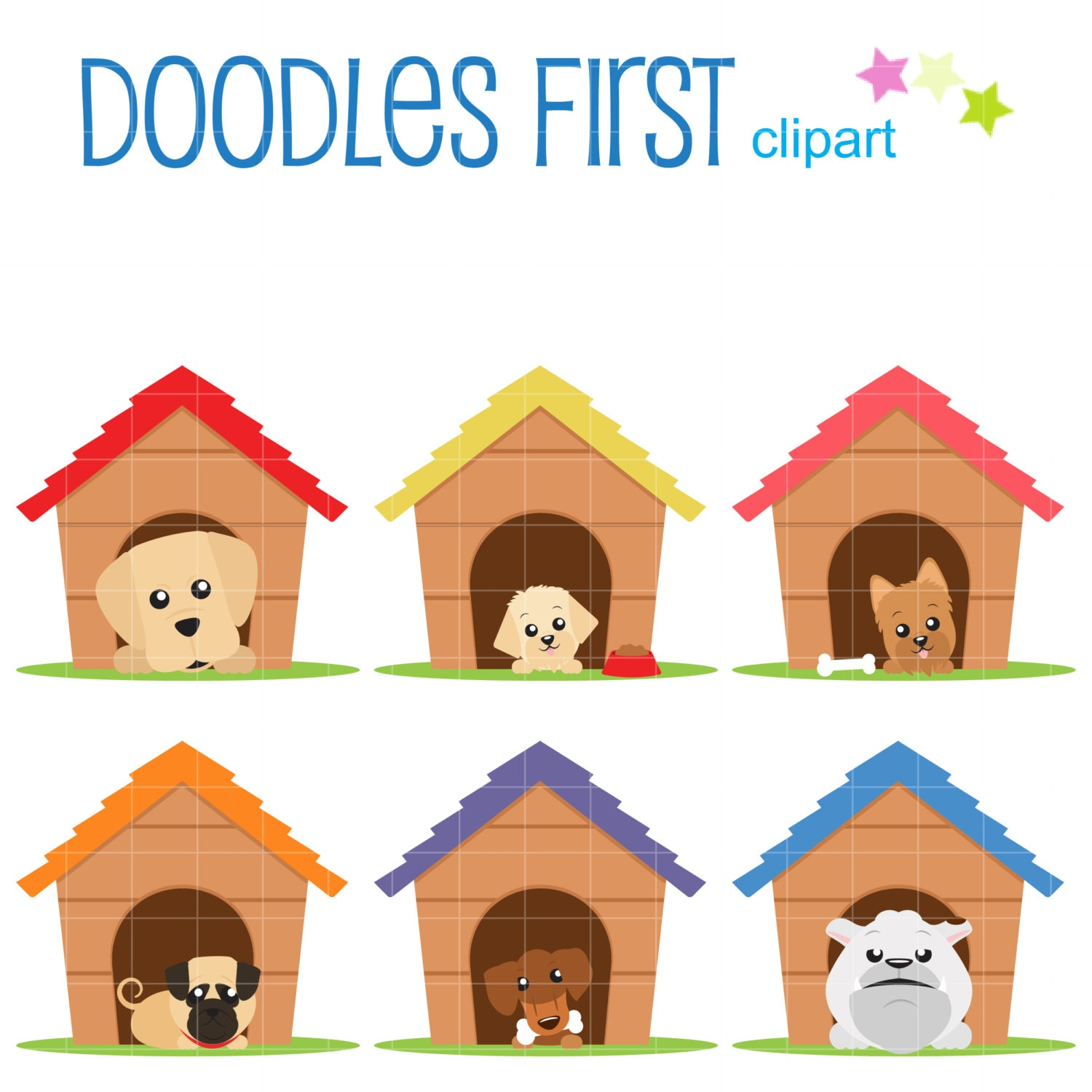clipart of dog houses - photo #46