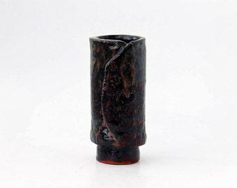 Irregular Ceramic Vase / Mid Century Scandinavian Vase / Vintage Table Vase / Sweden - 60s