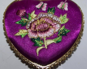 Embroidered Compact Mirror