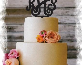 "5"" Wedding Vine Monogram Cake Topper  (Beautiful Laser Cut Acrylic )"