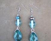 Turquoise Bead Chandelier Earrings  - Handmade Gift For Her Hypoallergenic