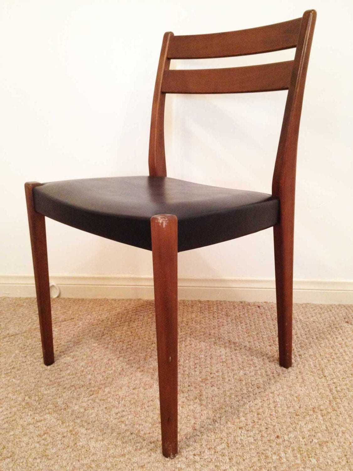 danish modern side chair teak svegards markaryd mid century