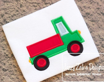 Pick Up Truck Appliqué embroidery design - truck appliqué design - boy appliqué design - cargo truck appliqué design - hauler appliqué