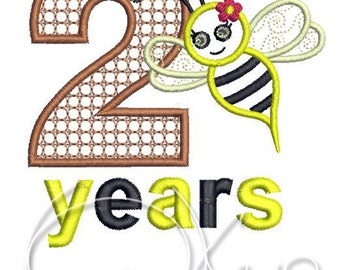 MACHINE Applique&Embroidery file - 2 years applique