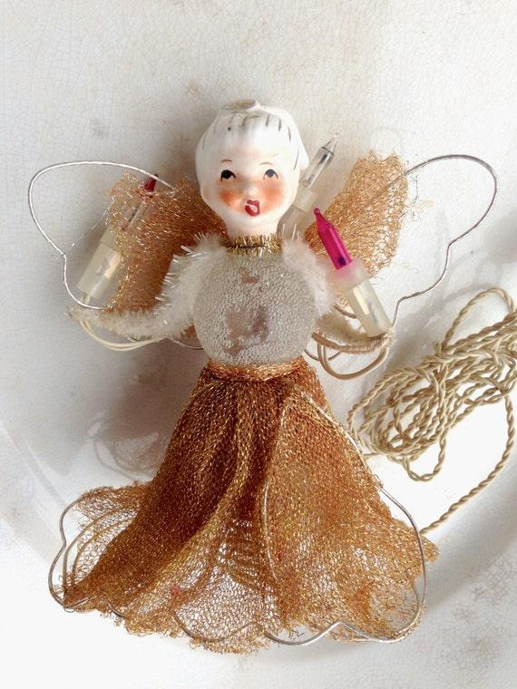 vintage christmas angel light christmas angel vintage angel