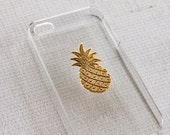 Pineapple iPhone 7 Case iPhone 7 Plus Pineapple Smartphone Case Unique Gold Case for iPhone 7  Chic Modern  Plated iPhone 7 Case