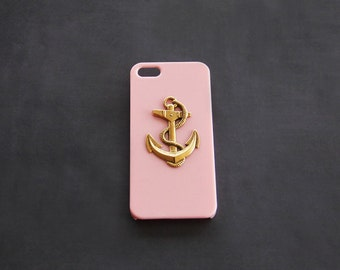 Pink iPhone 5 5s 5c Cover iPhone 7  Pink Case iPhone 5c Nautical Case Anchor iPhone Case  Anchor Case S4 Pink iPhone 7 Plus S4