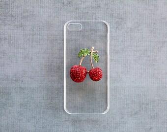 Cherry iPhone Case iPhone 5 6 4c 6s  Cherry Cover iPhone 6s  S5 Case Transparent  S5 Case Cherries iPhone 5s Cherries iPhone 4