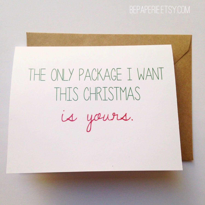 Naughty Christmas Card Funny Holiday Card Christmas Gift For